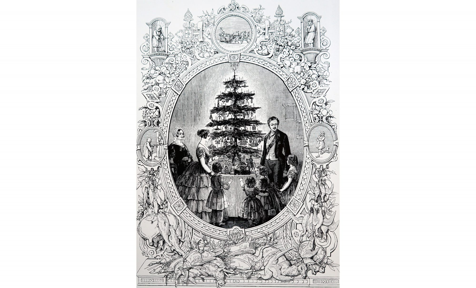 Queen Victoria Christmas Tree Engraving