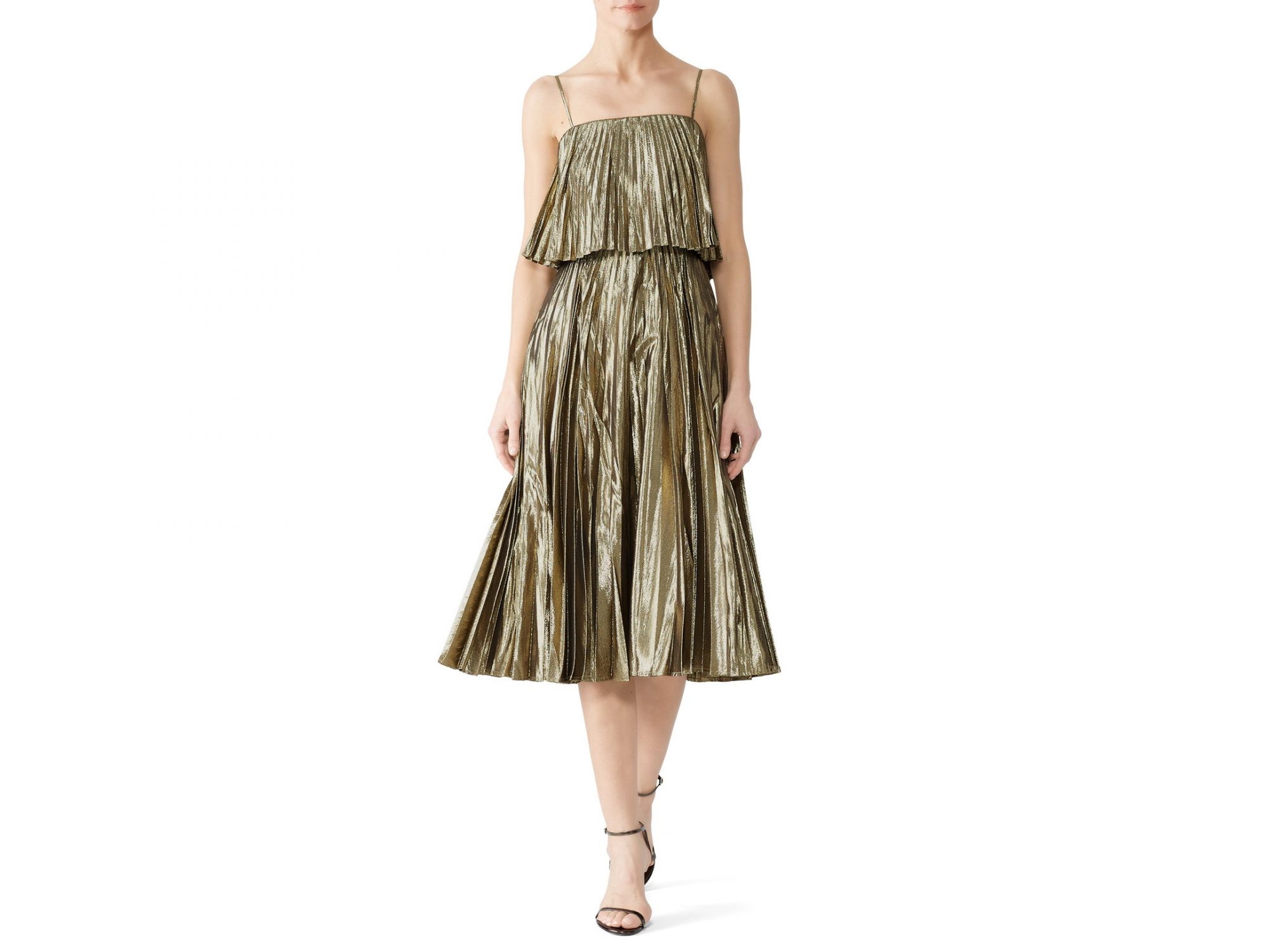 J. Crew Gold Goma Dress