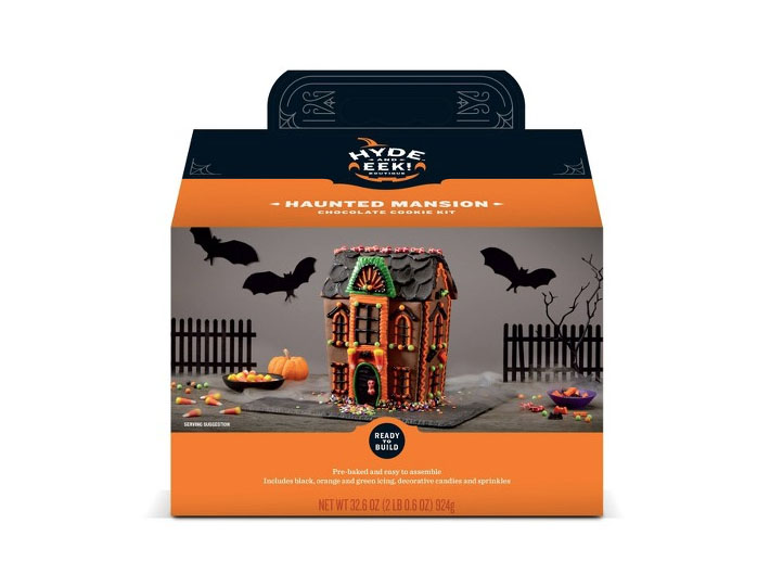 RX_1909 Halloween Gingerbread Houses_Haunted Mansion Chocolate Cookie Kit