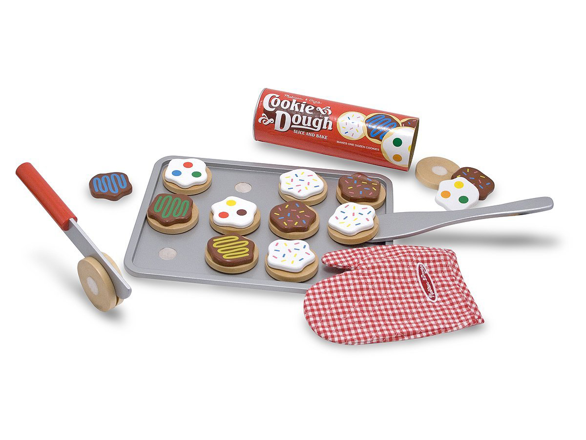Melissa & Doug Slice-and-Bake Wooden Cookie Play Food Set