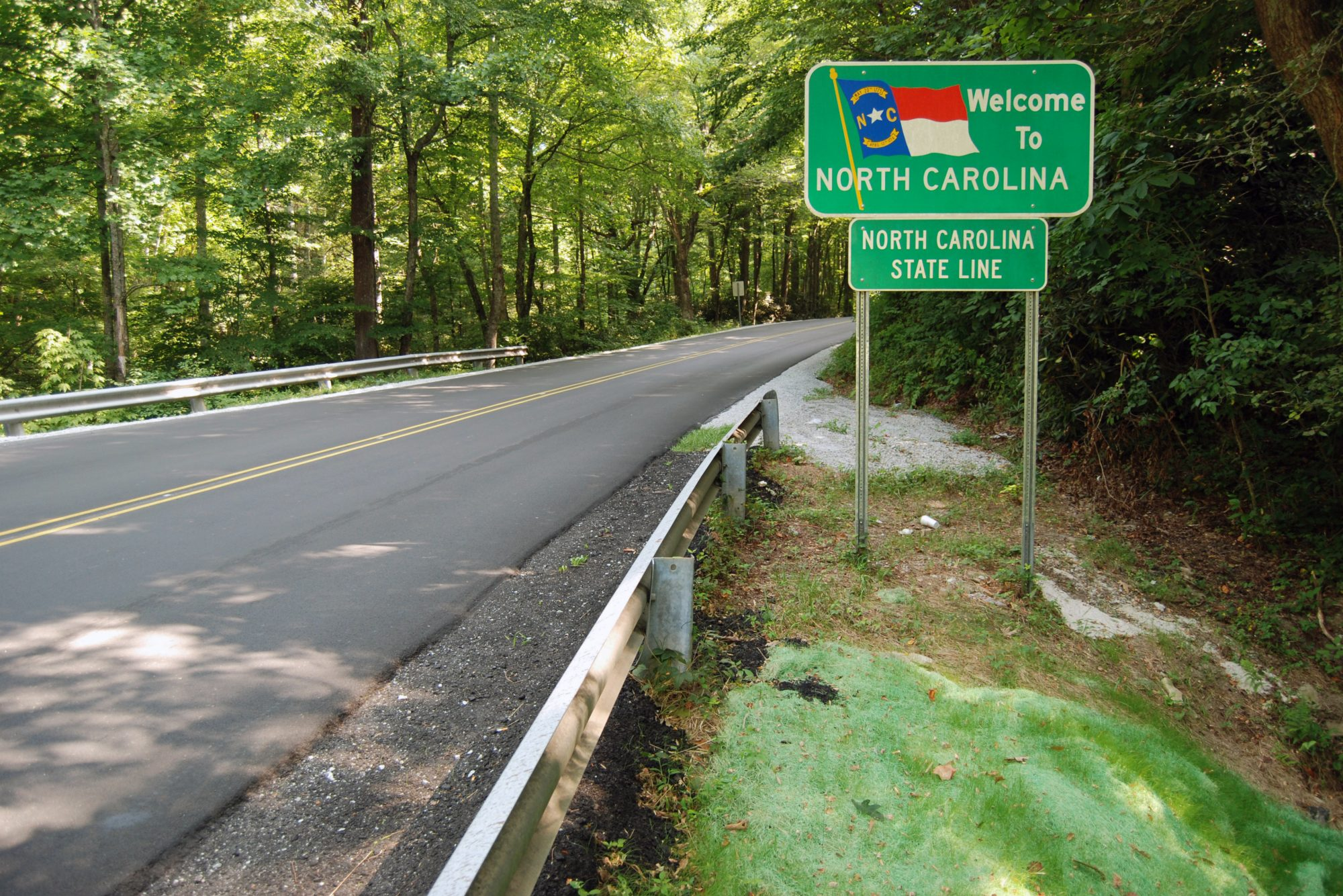 Welcome to North Carolina Highway Sign
