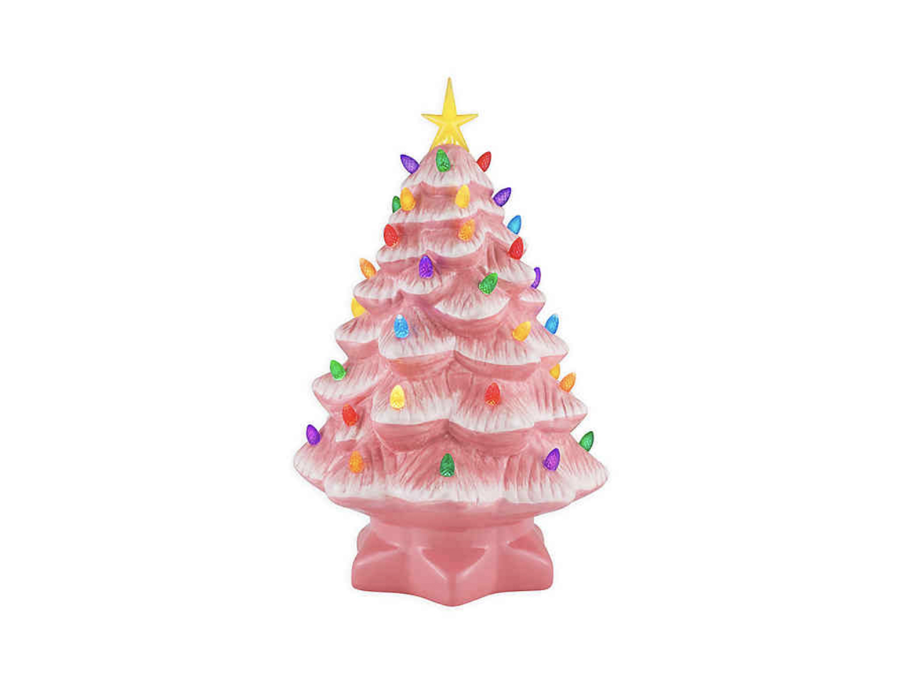 Mr. Christmas® 14-Inch Nostalgic Ceramic Christmas Tree in Pink