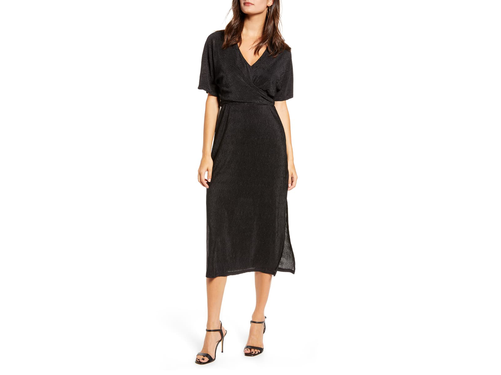 All in Favor Surplice Midi Dress