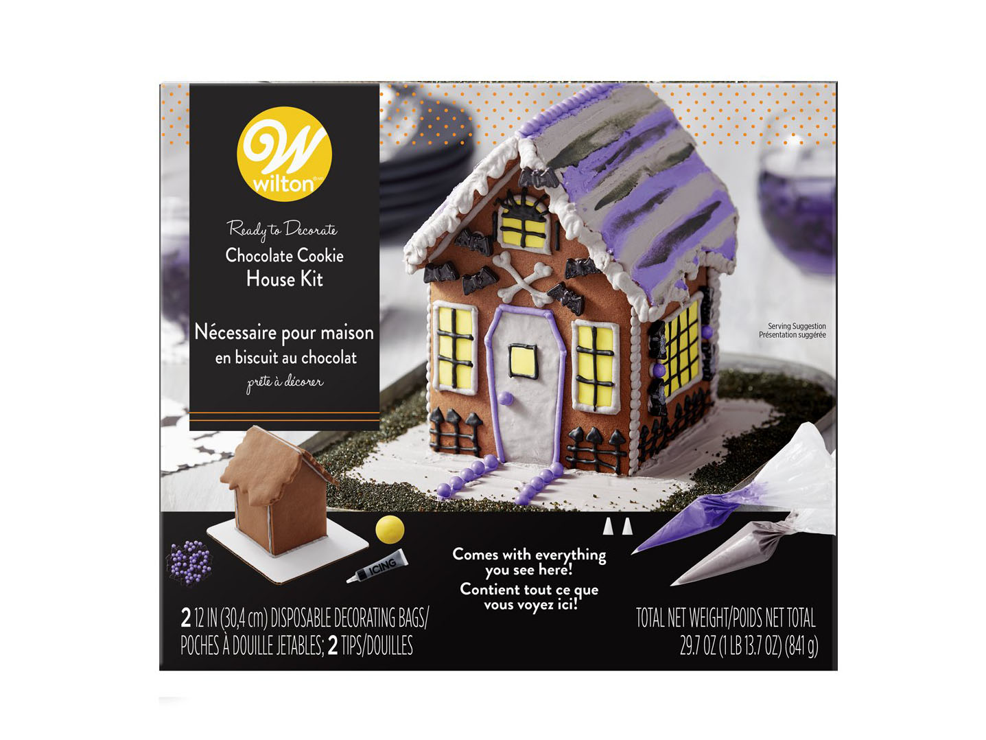 Pre-Assembled Halloween Chocolate Cookie House