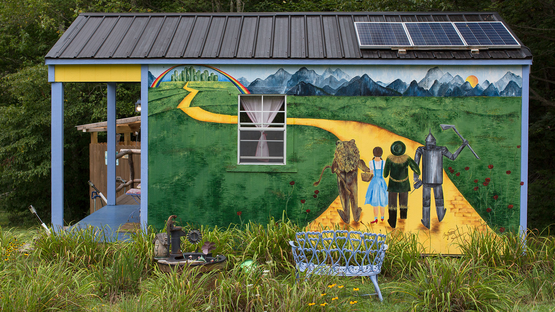 Wizard of Oz Tiny House Mural