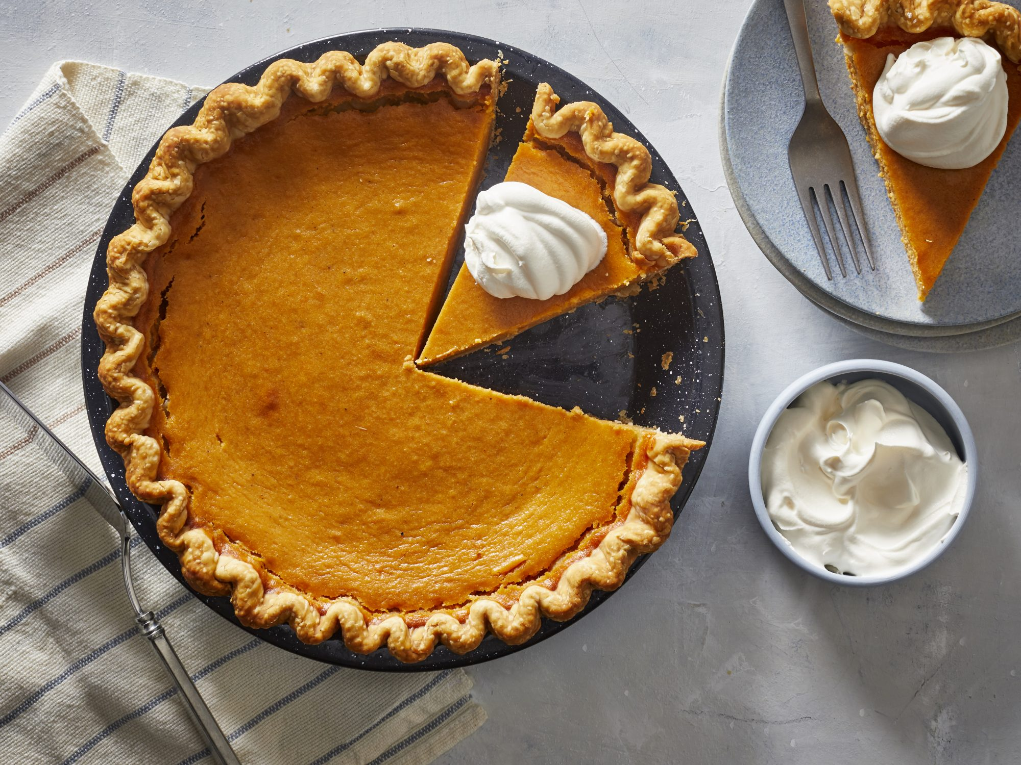 Mississippi Sweet Potato Pie With Bourbon Whipped Cream