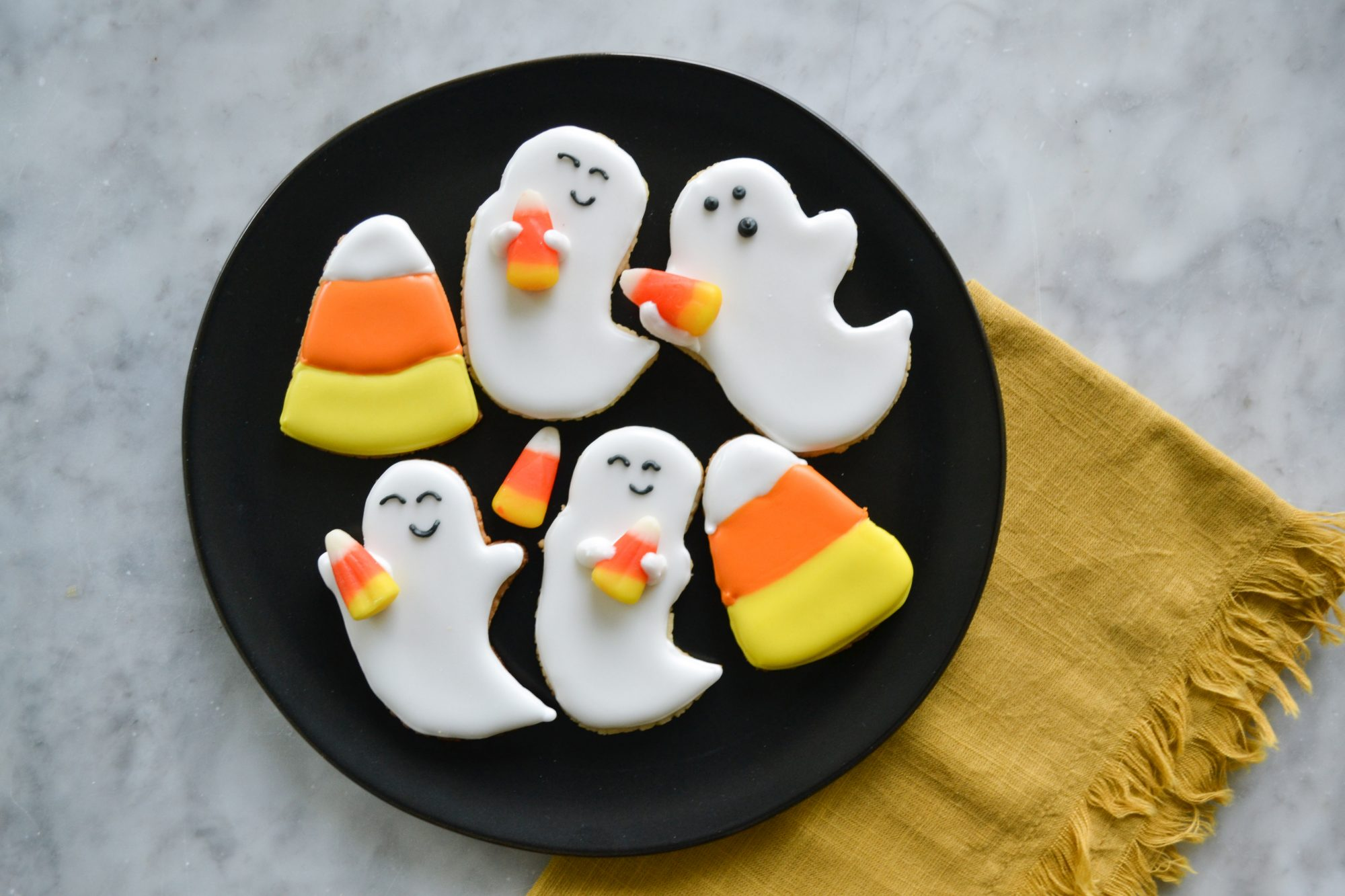 Friendly Ghost Sugar Cookies