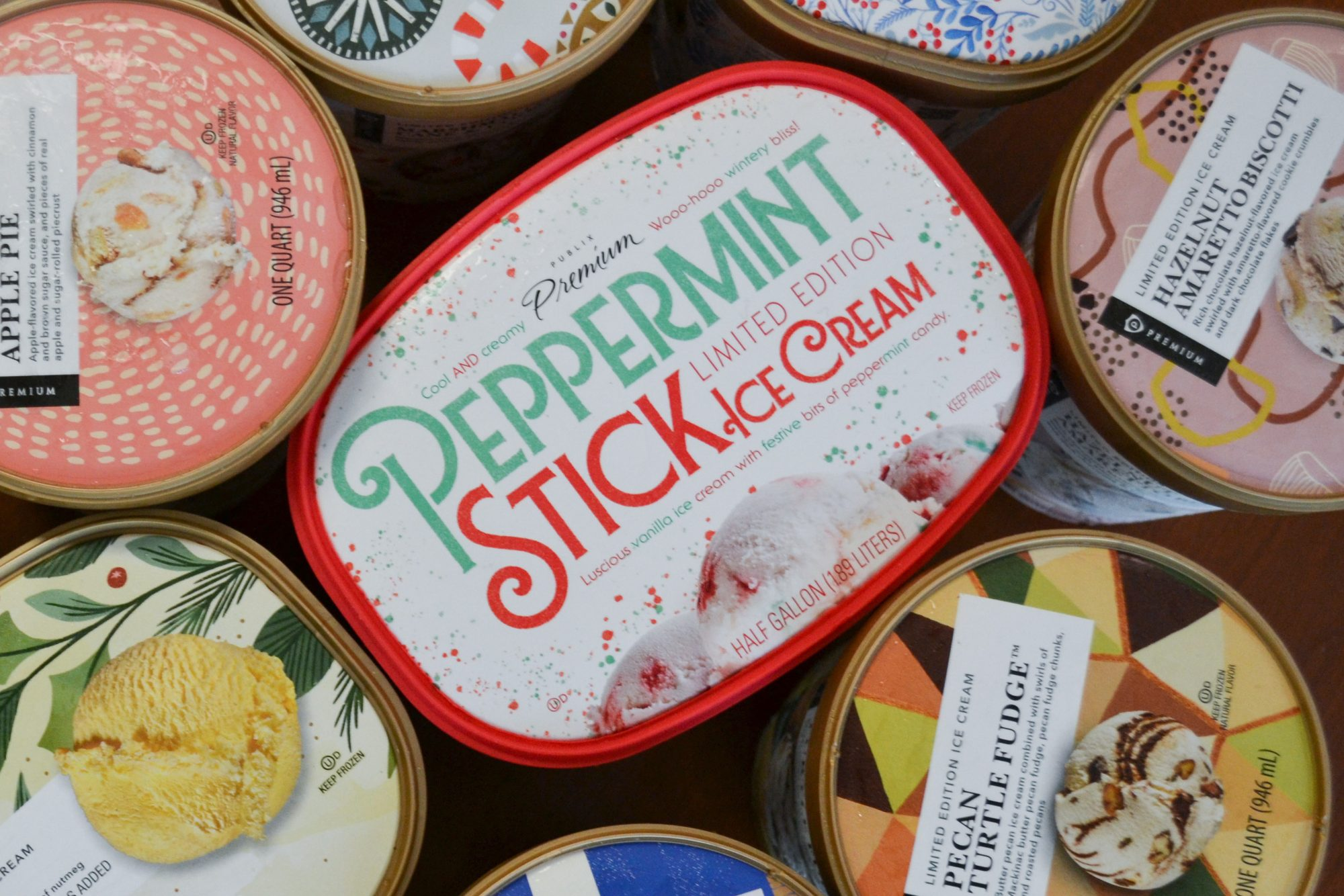 Publix Peppermint Stick Ice Cream