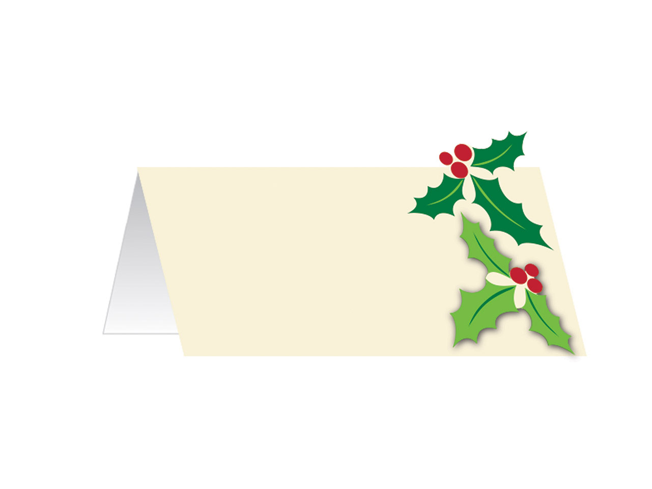 Christmas Holly Place Cards