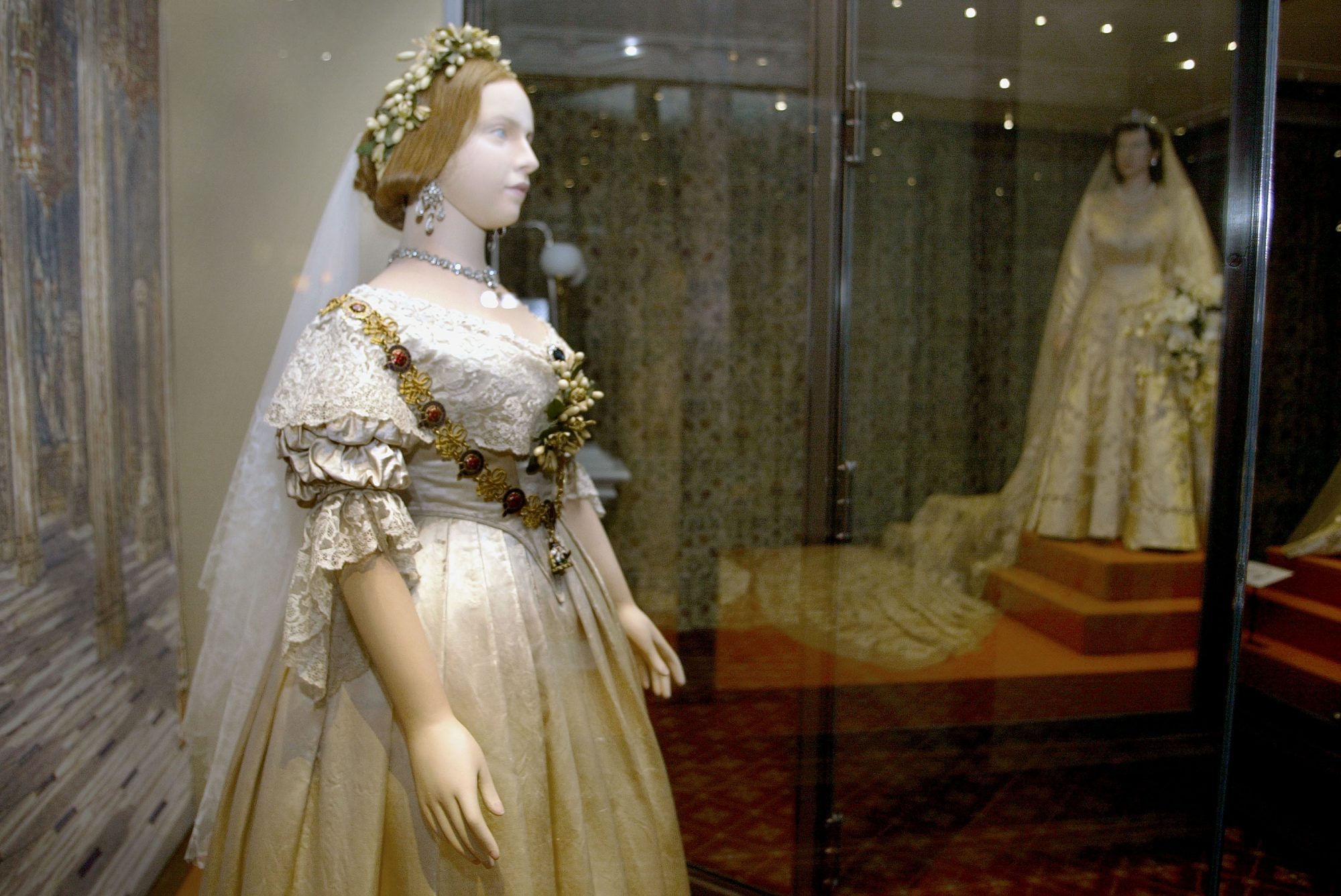 Queen Victoria's Wedding Dress on Display