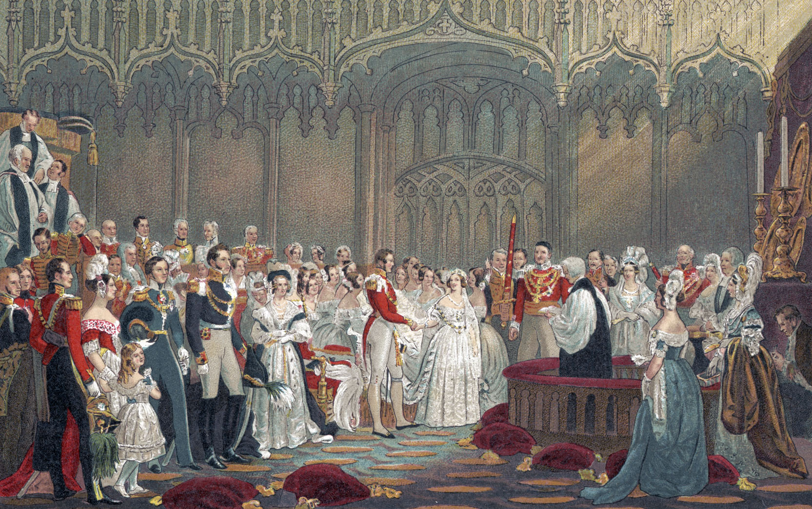 Queen Victoria and Prince Albert Wedding Illustration