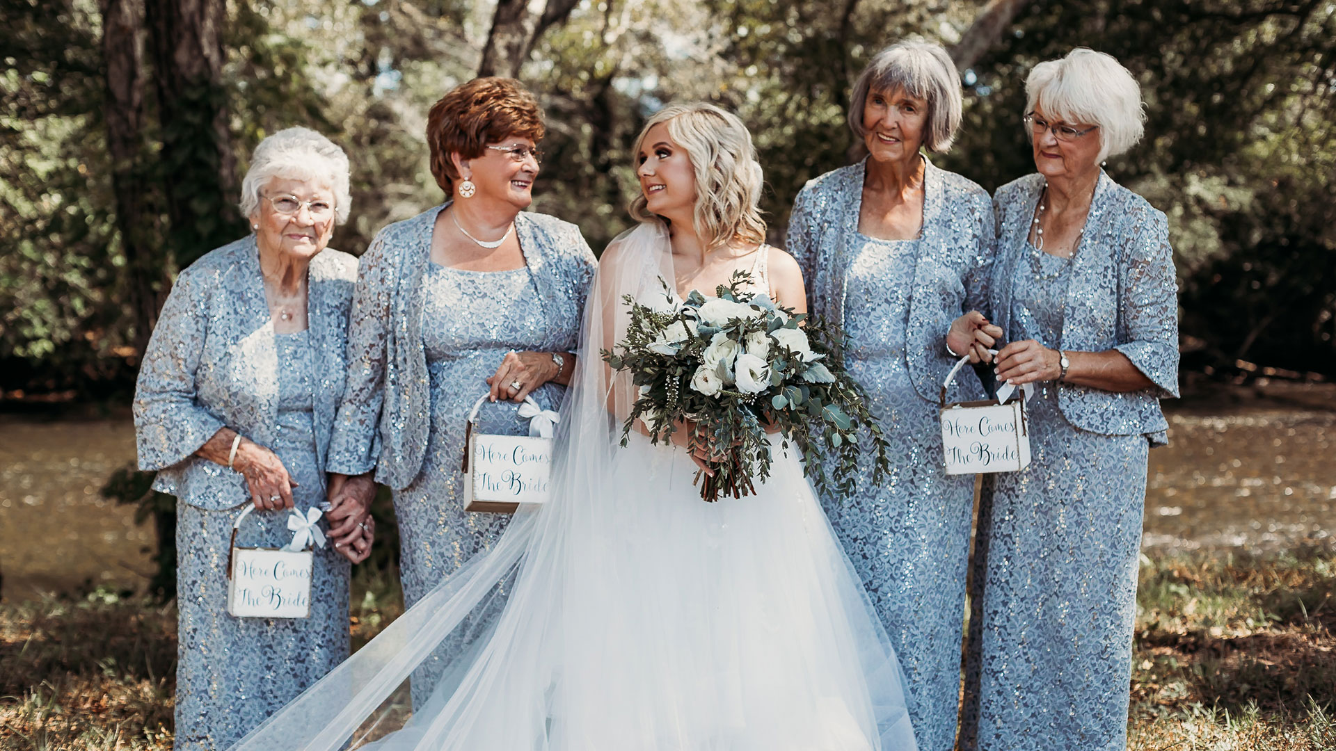 WATCH: This Tennessee Bride's 4 Grandmothers Served as Her Flower Girls
