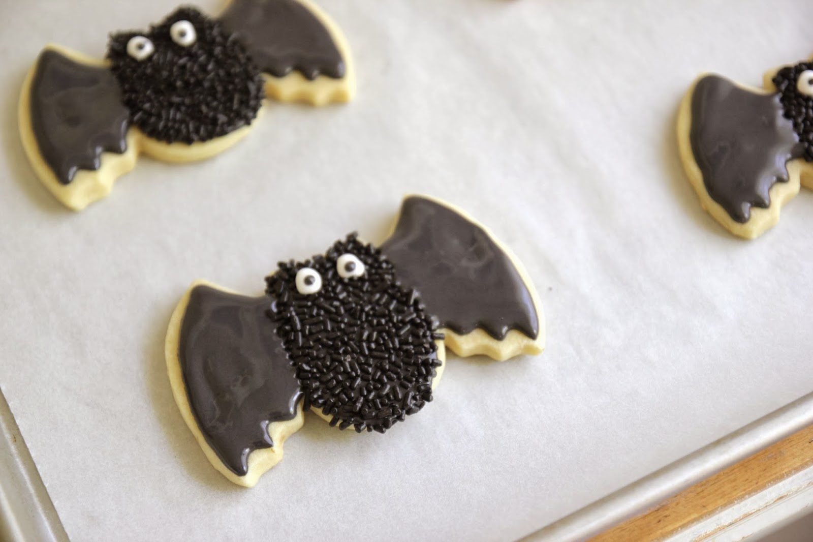 Spooky Bat Cookies