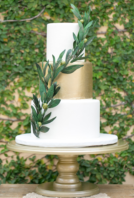 Three Tiers with a Metallic Pop