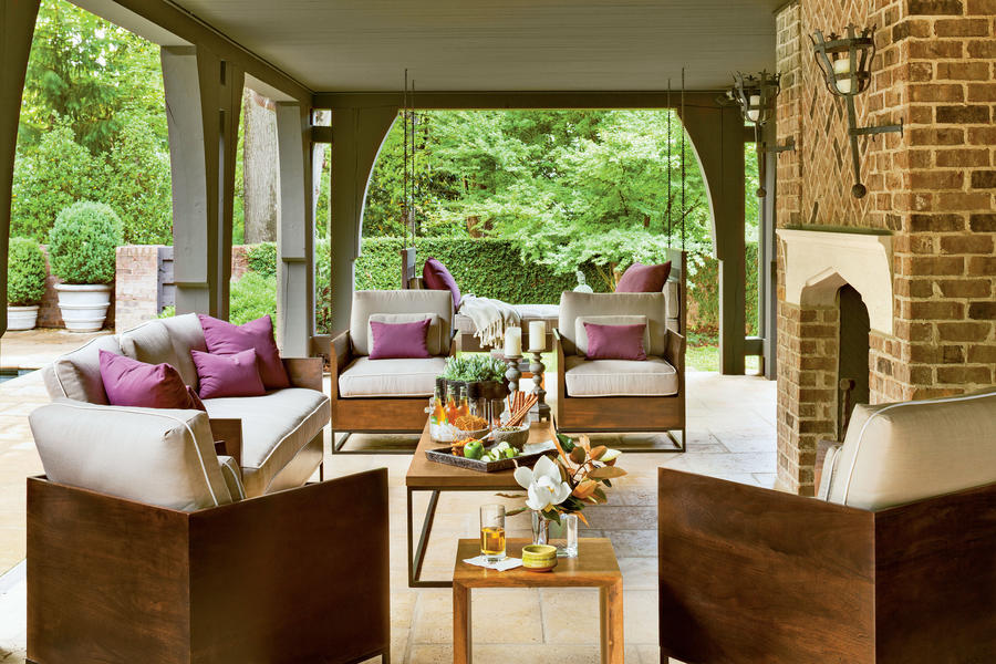 16 Ways to Spice Up Your Porch Décor for Fall - Southern ... on Large Back Porch Ideas id=40614