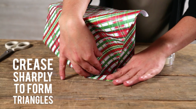 How to Wrap a Present Step 4