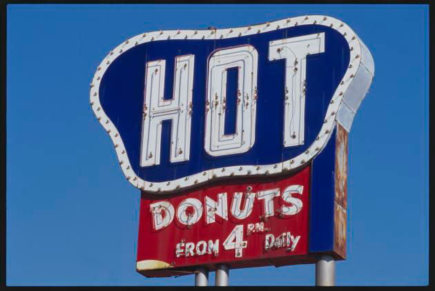 Southern Maid Hot Donut Sign