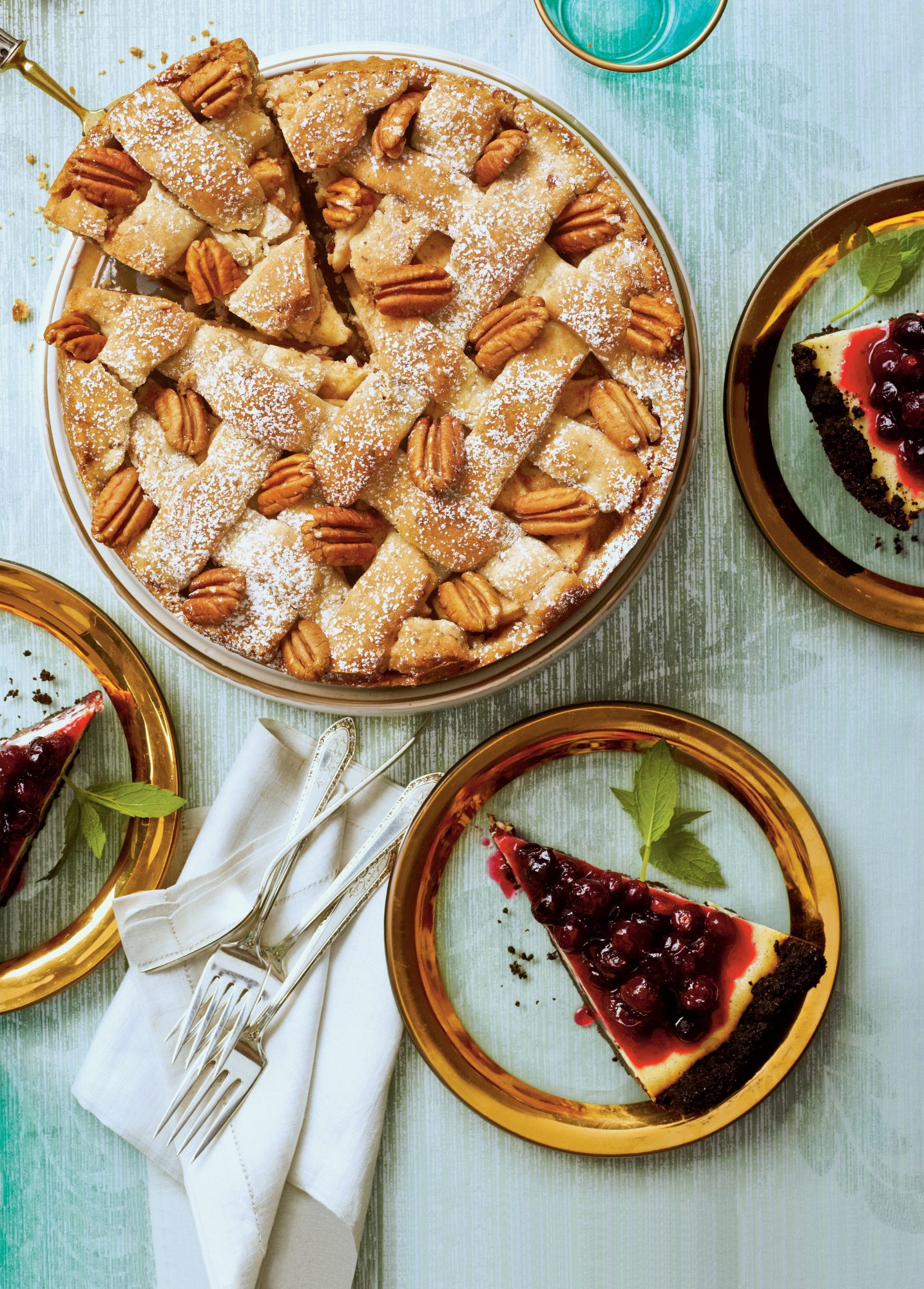 Cranberry-Apple Pie with Pecan Shortbread Crust