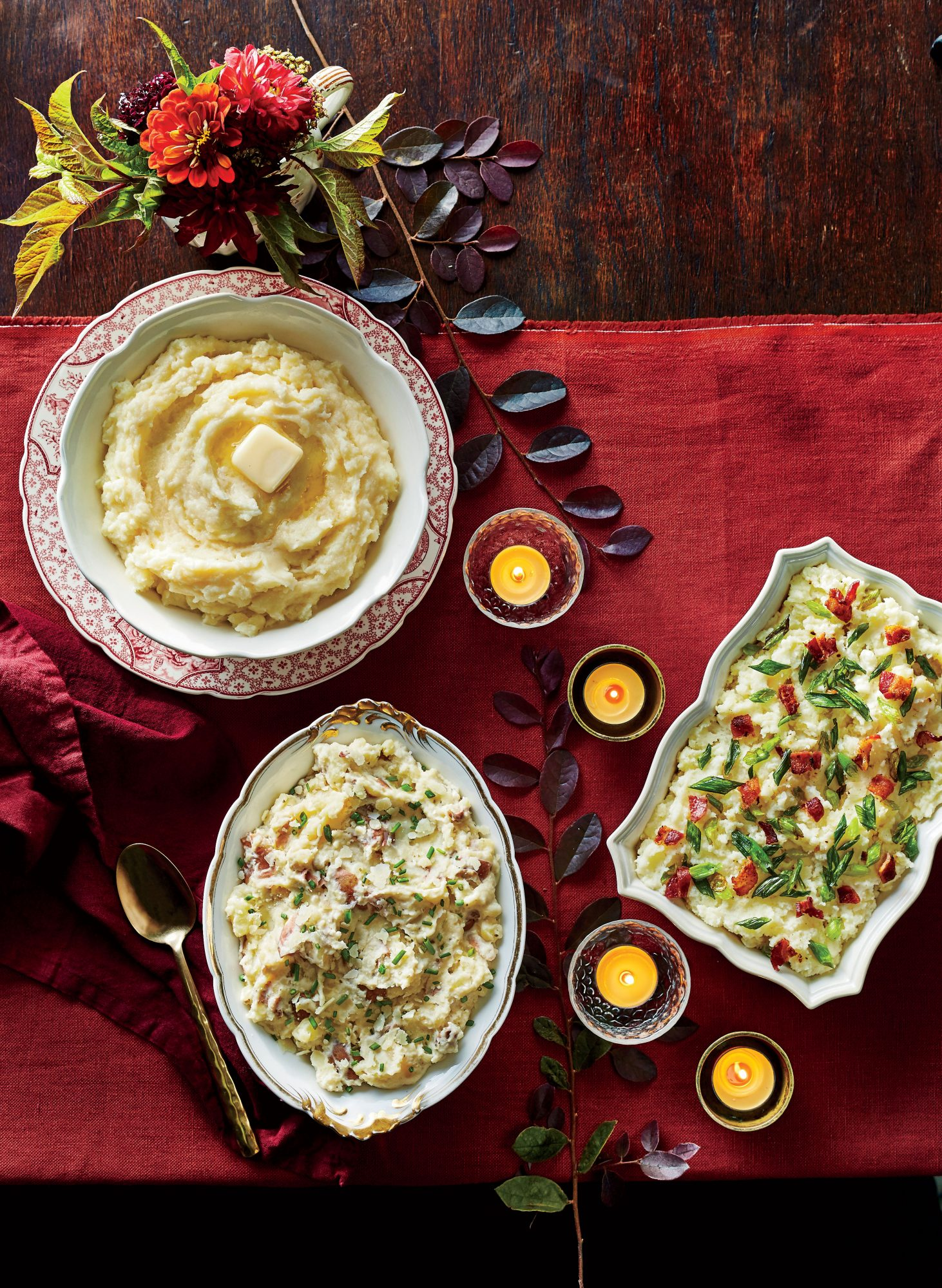 Rustic Mashed Red Potatoes with Parmesan