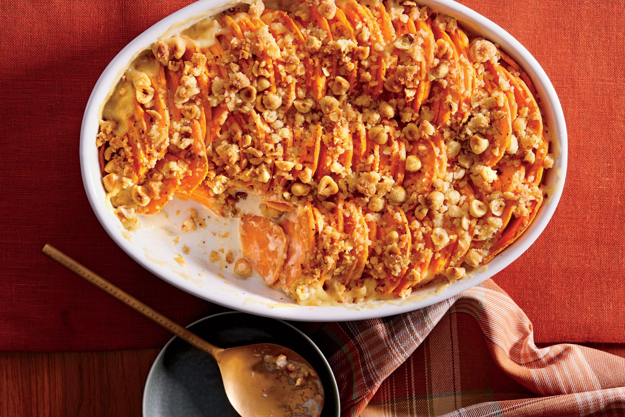 Hasselback Sweet Potato Casserole