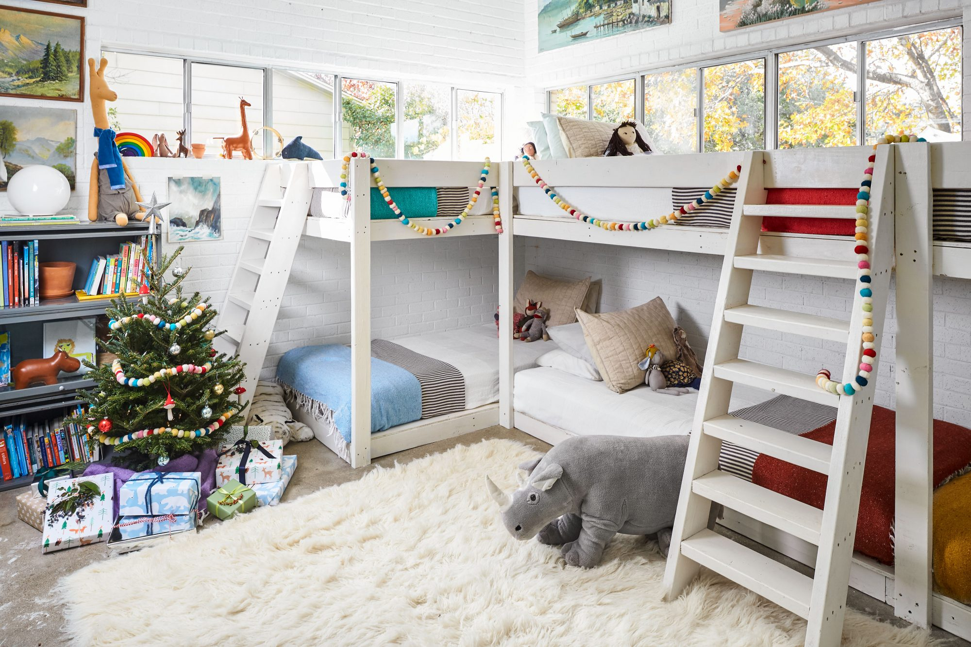 Sara and Billy Jack Brawner's Waco, TX Home for Christmas Kids Bunk Room