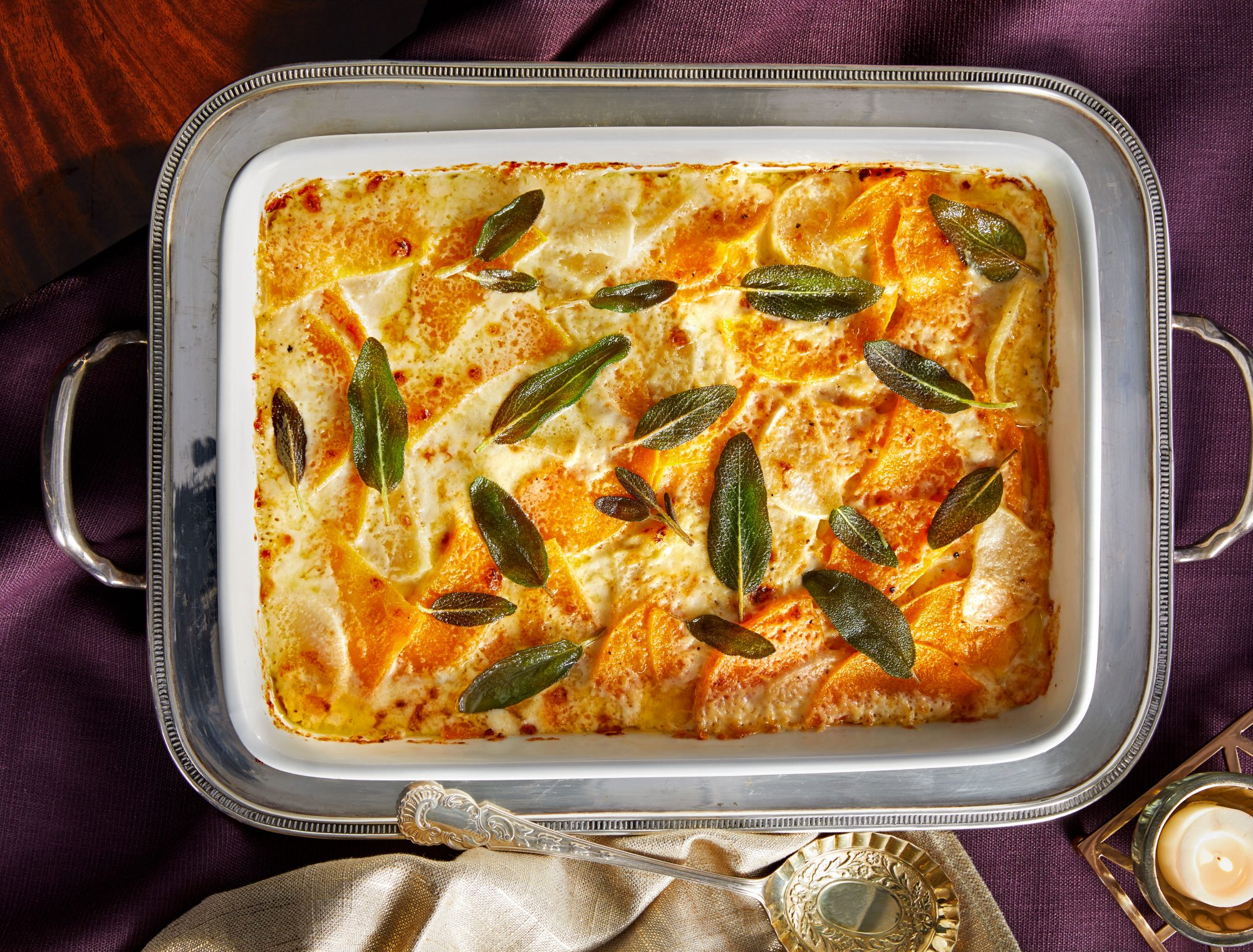Root Vegetable-and-Butternut Squash Gratin