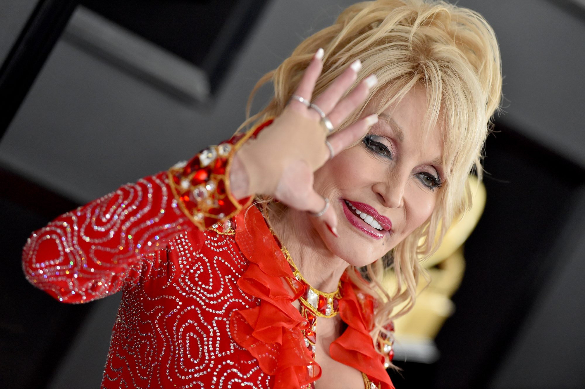 Dolly Parton Red Dress