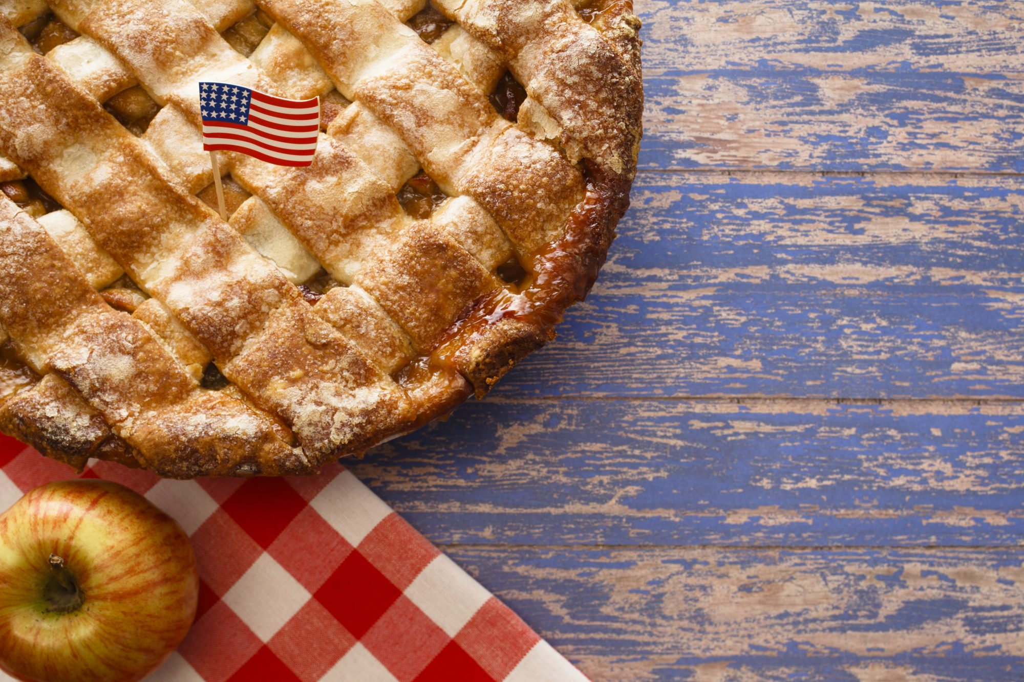 Apple Pie with American Flag