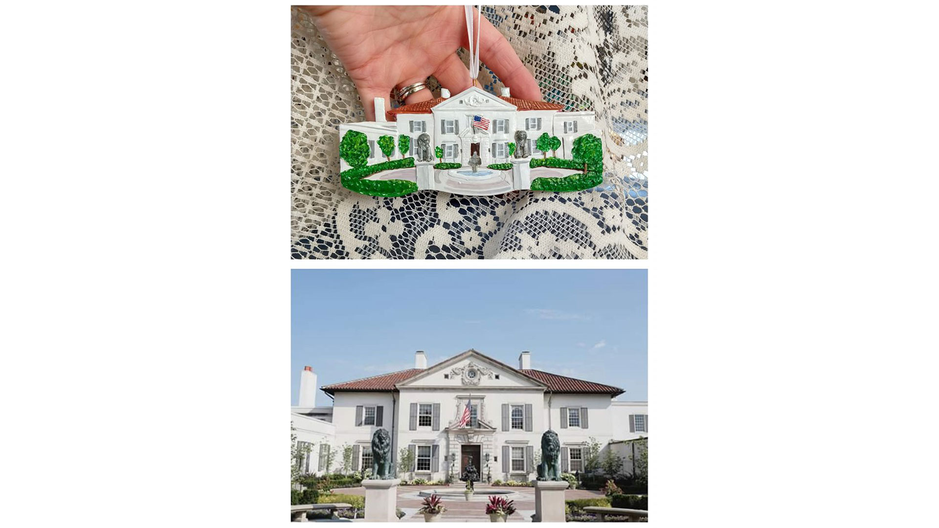 Forever Figurines House Ornament Before After