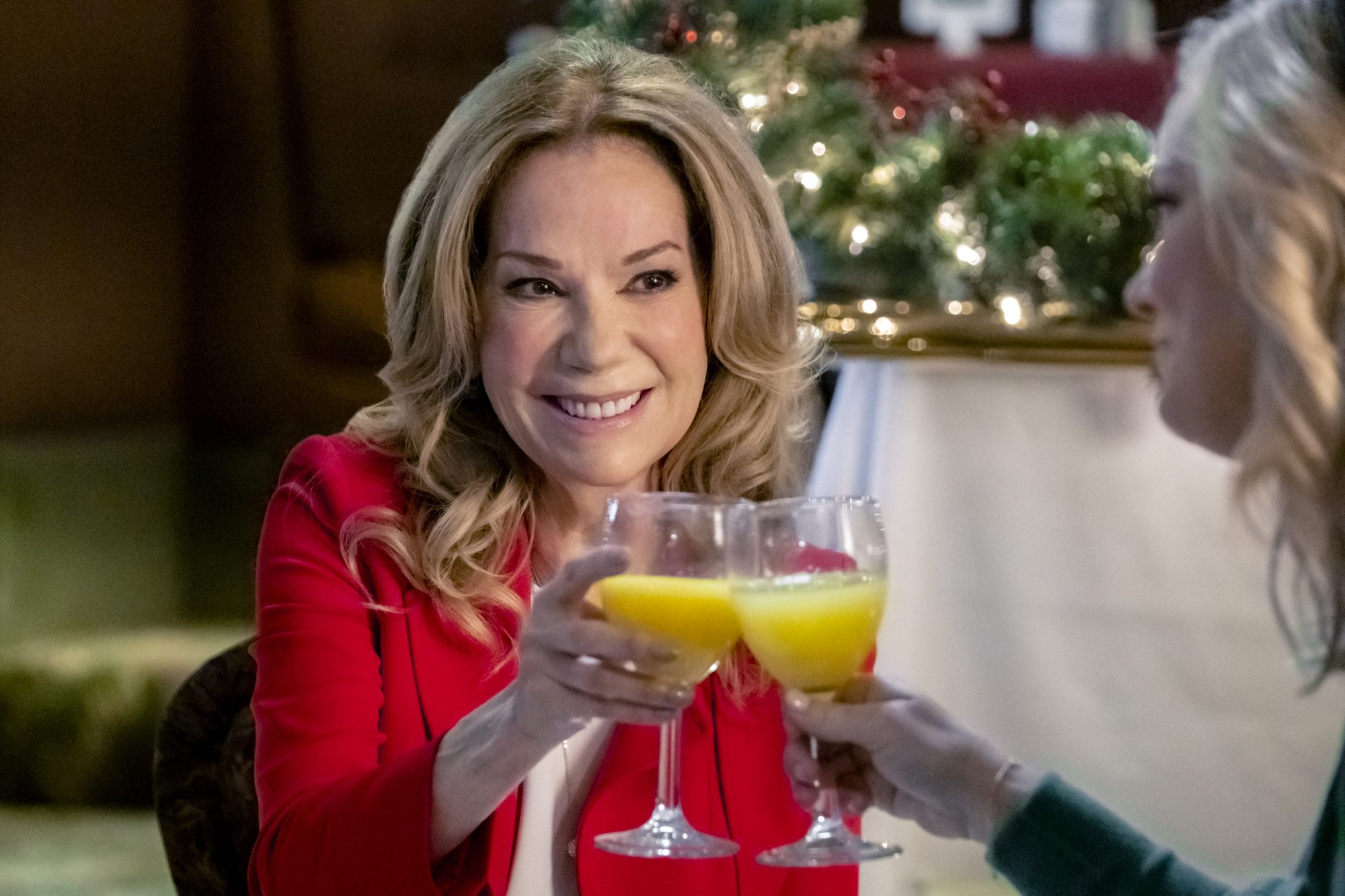 Kathie Lee Gifford Clinking Glasses