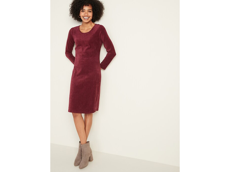 RX_1911 Christmas Dresses_Old Navy Semi-Fitted Rib-Knit Dress