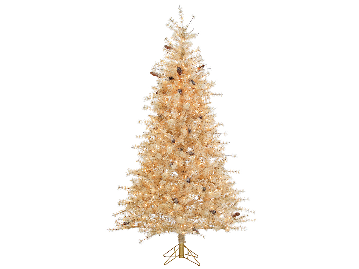 Sterling 7Ft. Frosted Buttercream Hard Needle Slim Tree