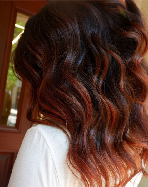 Strawberry Brown Balayage