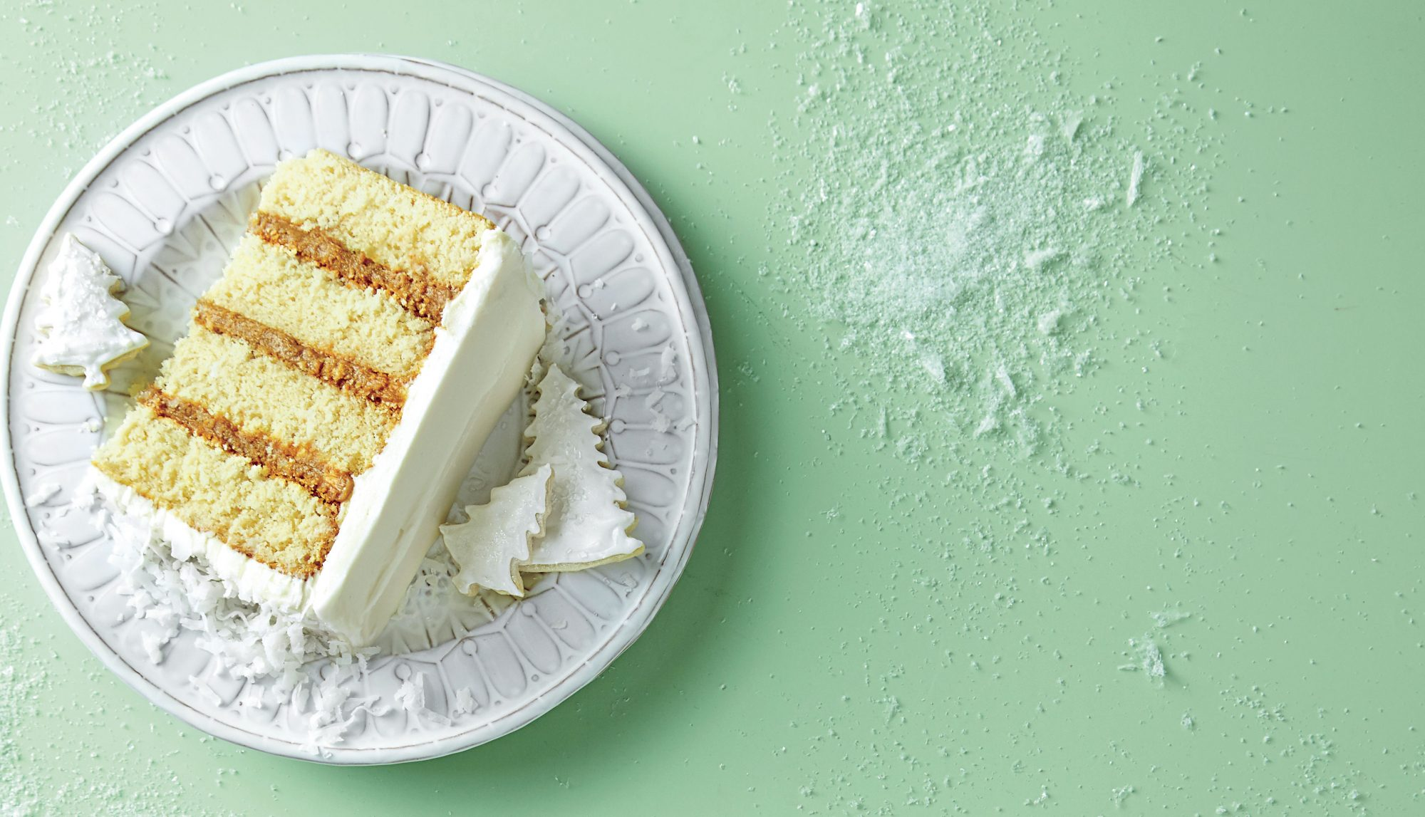 Ermine Frosting on Cake