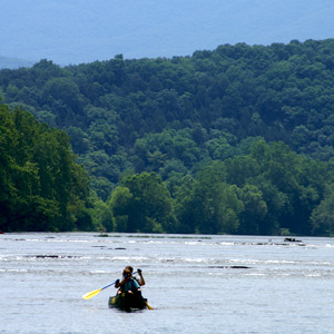 Paddling the Shenandoah River