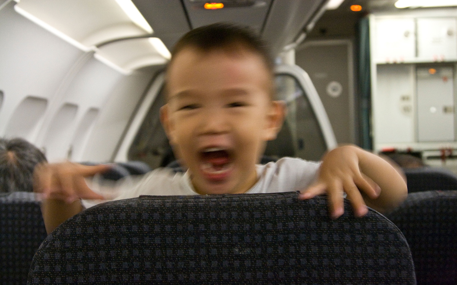 Annoying kid on airplane