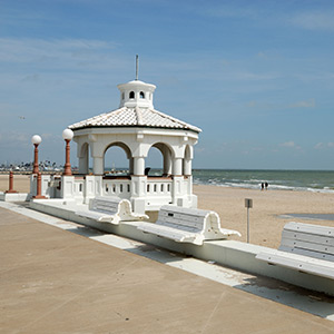 Urban and Empty Beaches in Corpus Christi, Texas