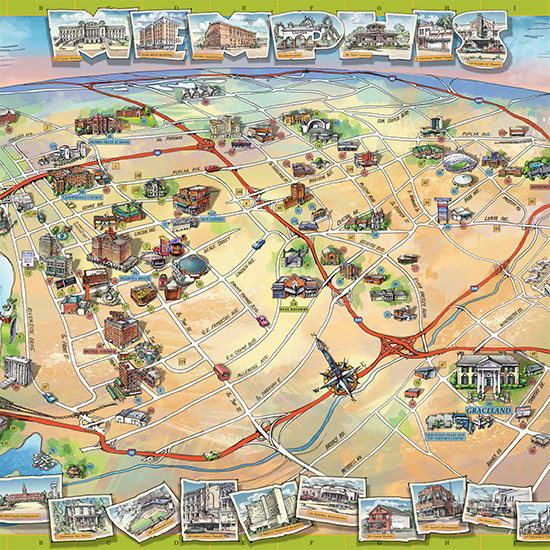 A Memphis Map That's Fit for The King
