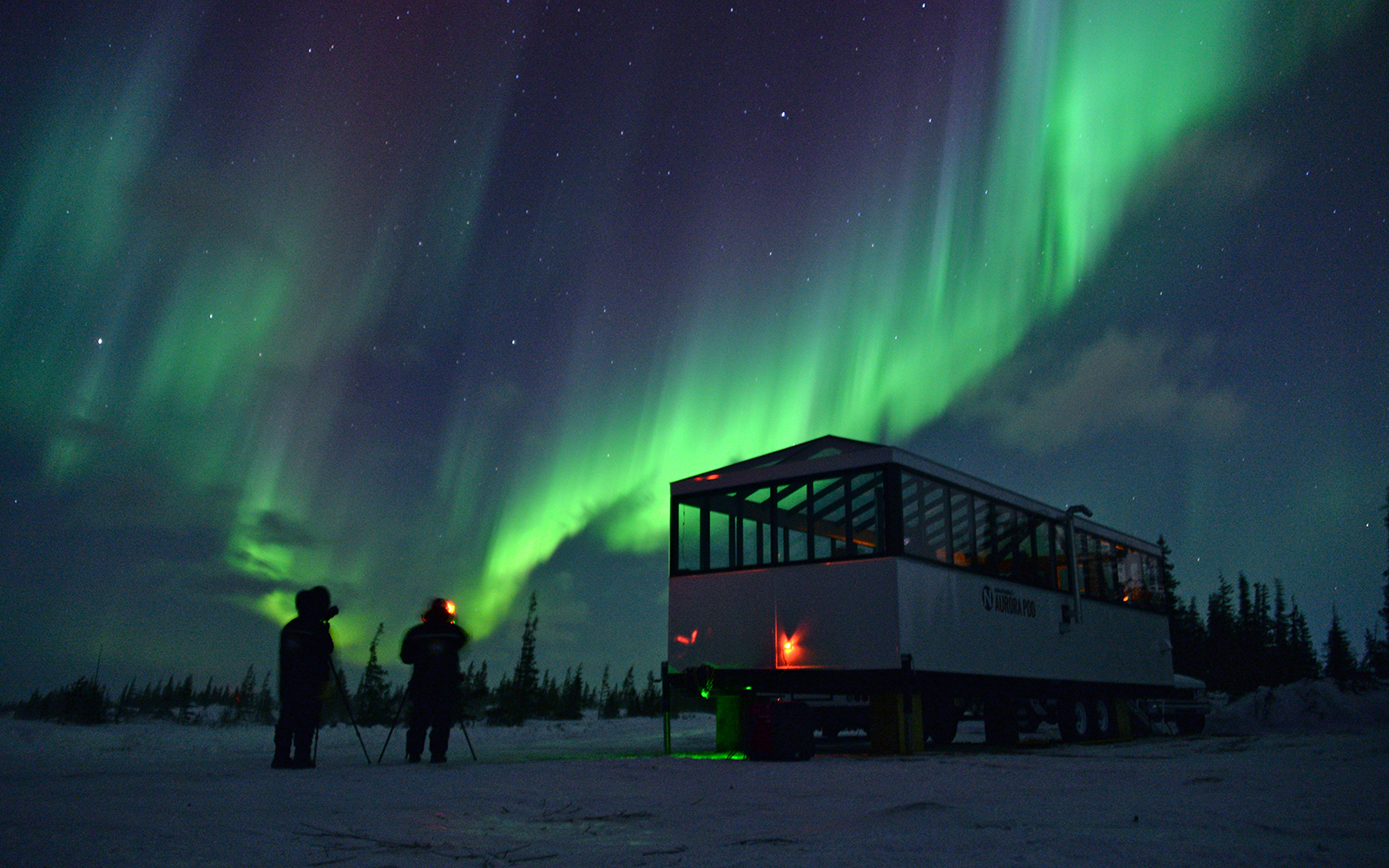 Manitoba's Aurora Pod Offer Amazing Views of the Aurora Borealis