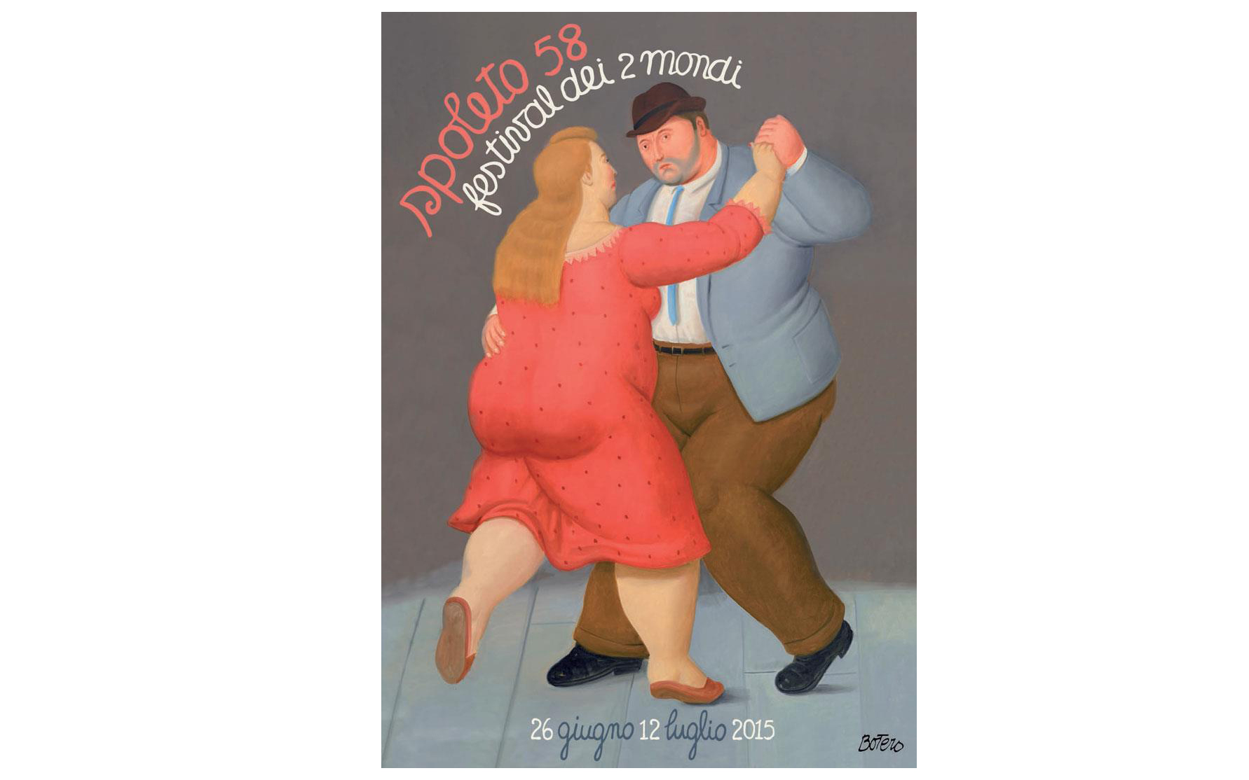 Fernando Botero Designs Poster for Italy's Two Worlds Festival