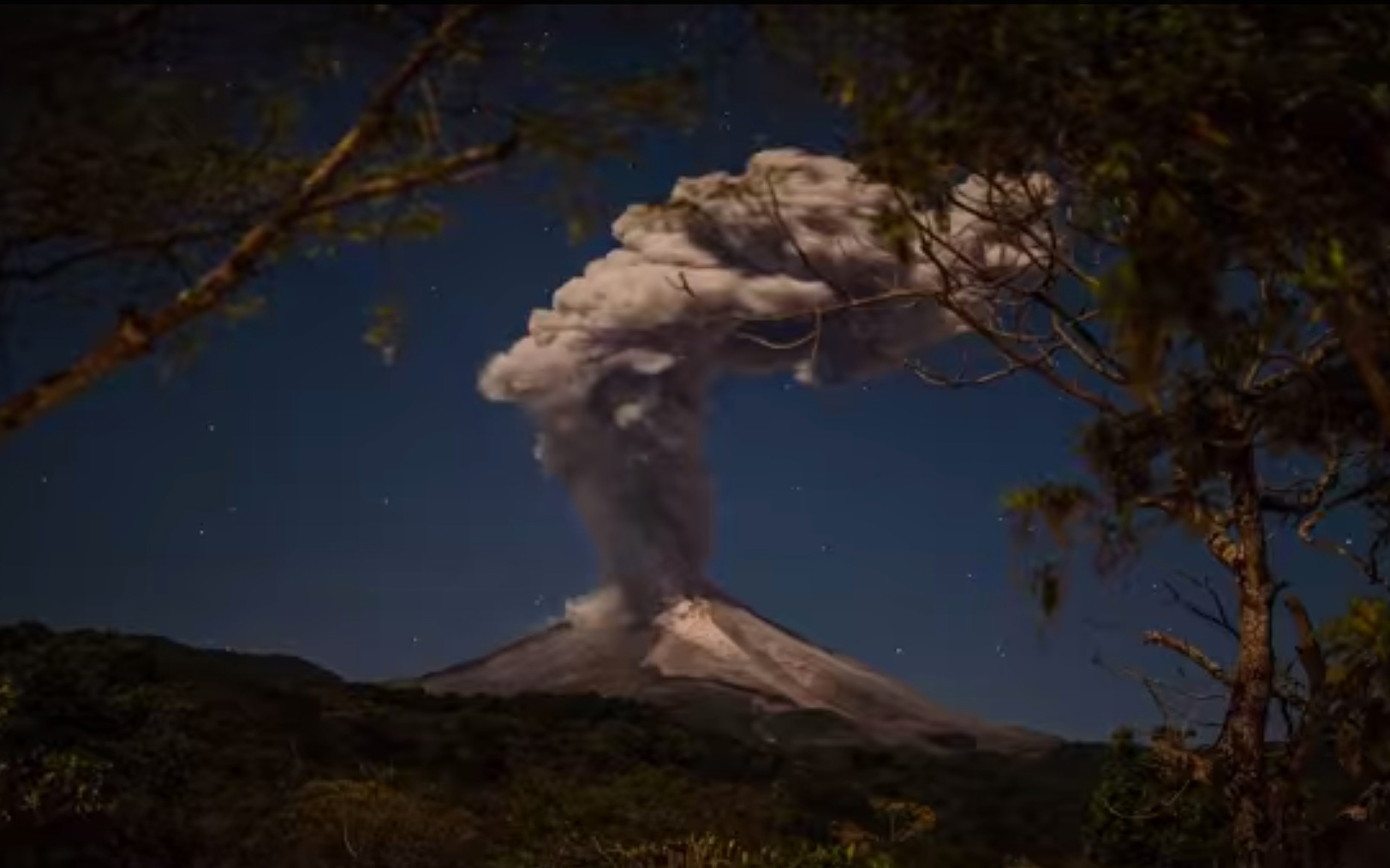 Video: Watch Lightning Strike Mexico's Colima Volcano As It Erupts