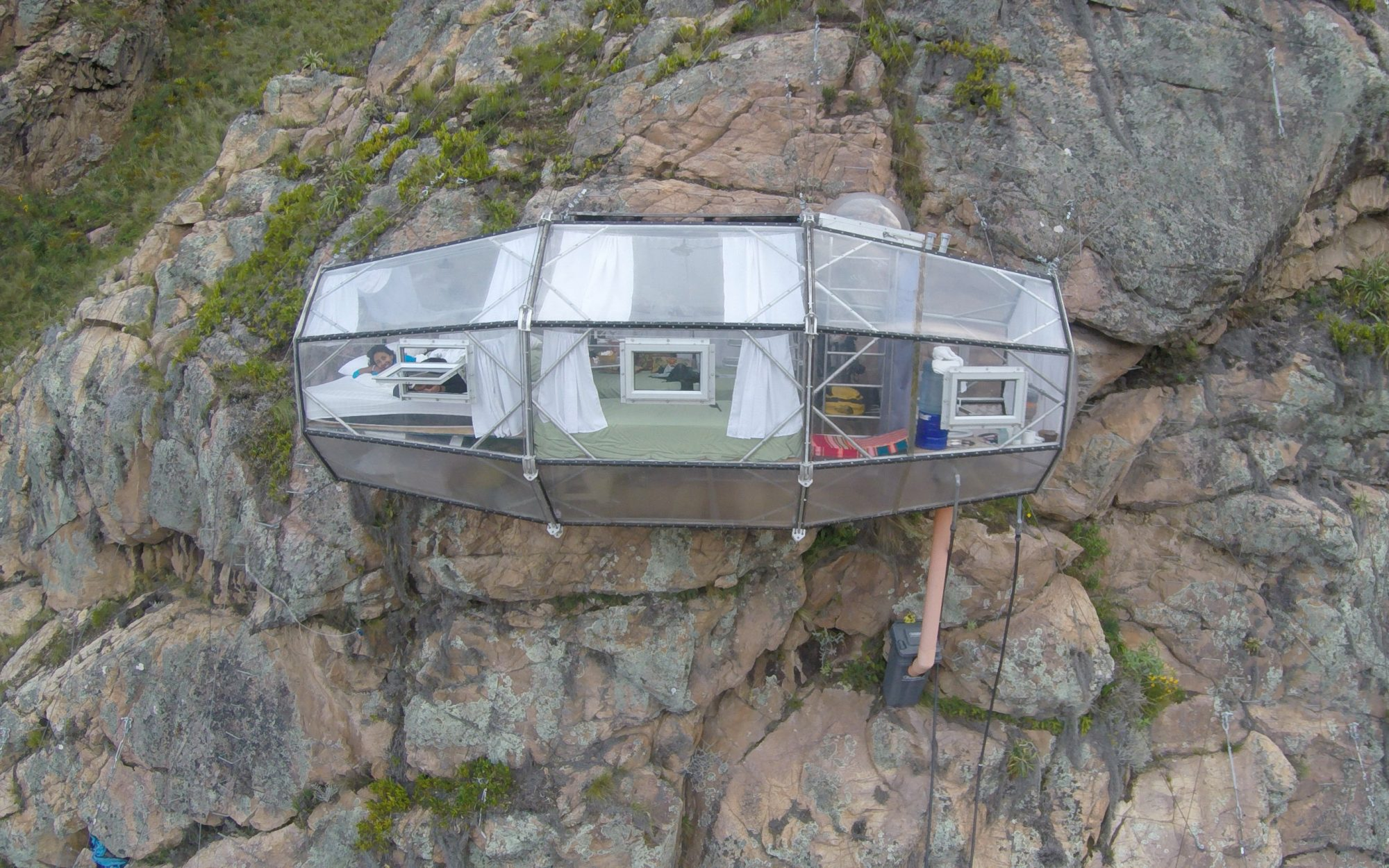 Afraid of heights? Don't book a room at the Skylodge Adventure Suites