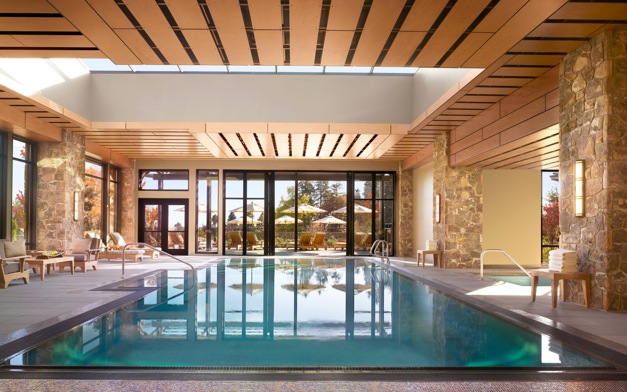 You might think Oregon's best hotel would be in Portland, but T+L readers voted the Allison Inn & Spa the state's top hotel, with a score of 95.250. The sprawling eco-friendly property, situated in the idyllic Willamette Valley wine country, is home to seven acres of grapevines, fields, and gardens. The property certainly makes use of the land's bounty—the Jory restaurant serves farm-to-table dishes and offers forty wines by the glass. The spa even uses local berries, roses, wine, and honey in its treatments. If all that wasn't enough, the luxurious inn is LEED-gold certified.