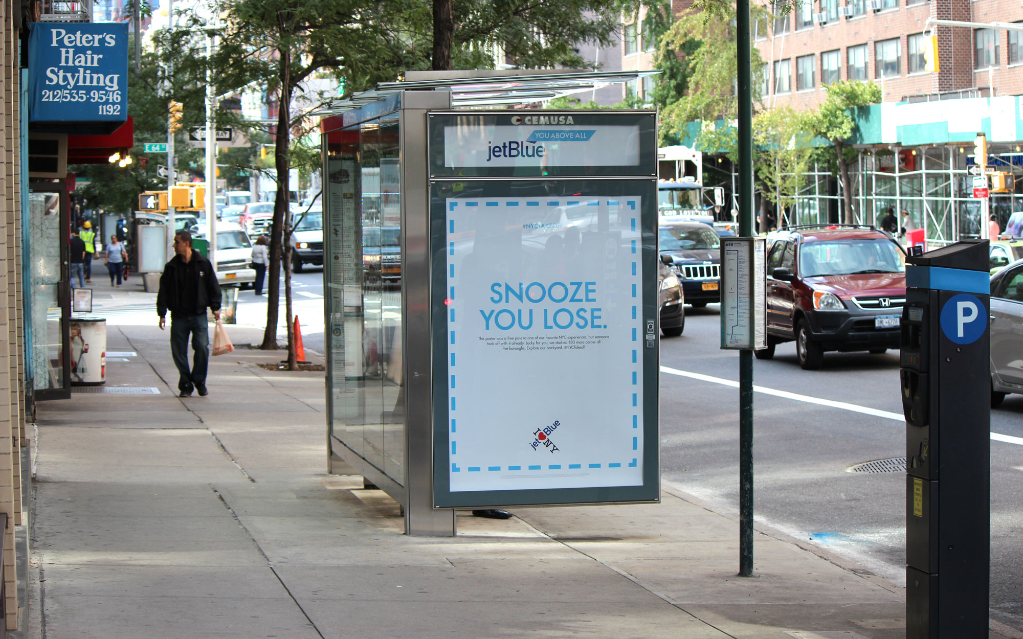 JetBlue Ads are Hiding Free Flights and Gift Certificates at NYC Bus Shelters