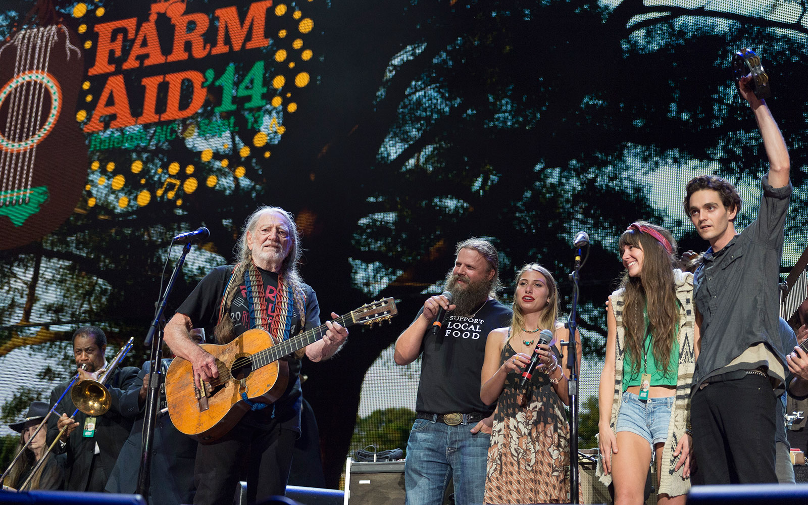 For its 30th Birthday, Farm Aid Presents Founders Willie Nelson, Neil Young, and John Mellencamp