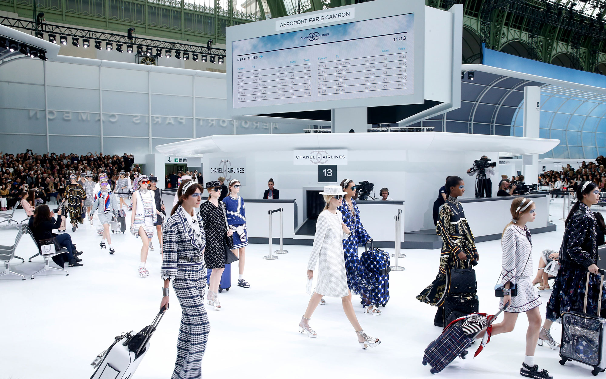 Chanel Airlines Debuts At Paris Fashion Week