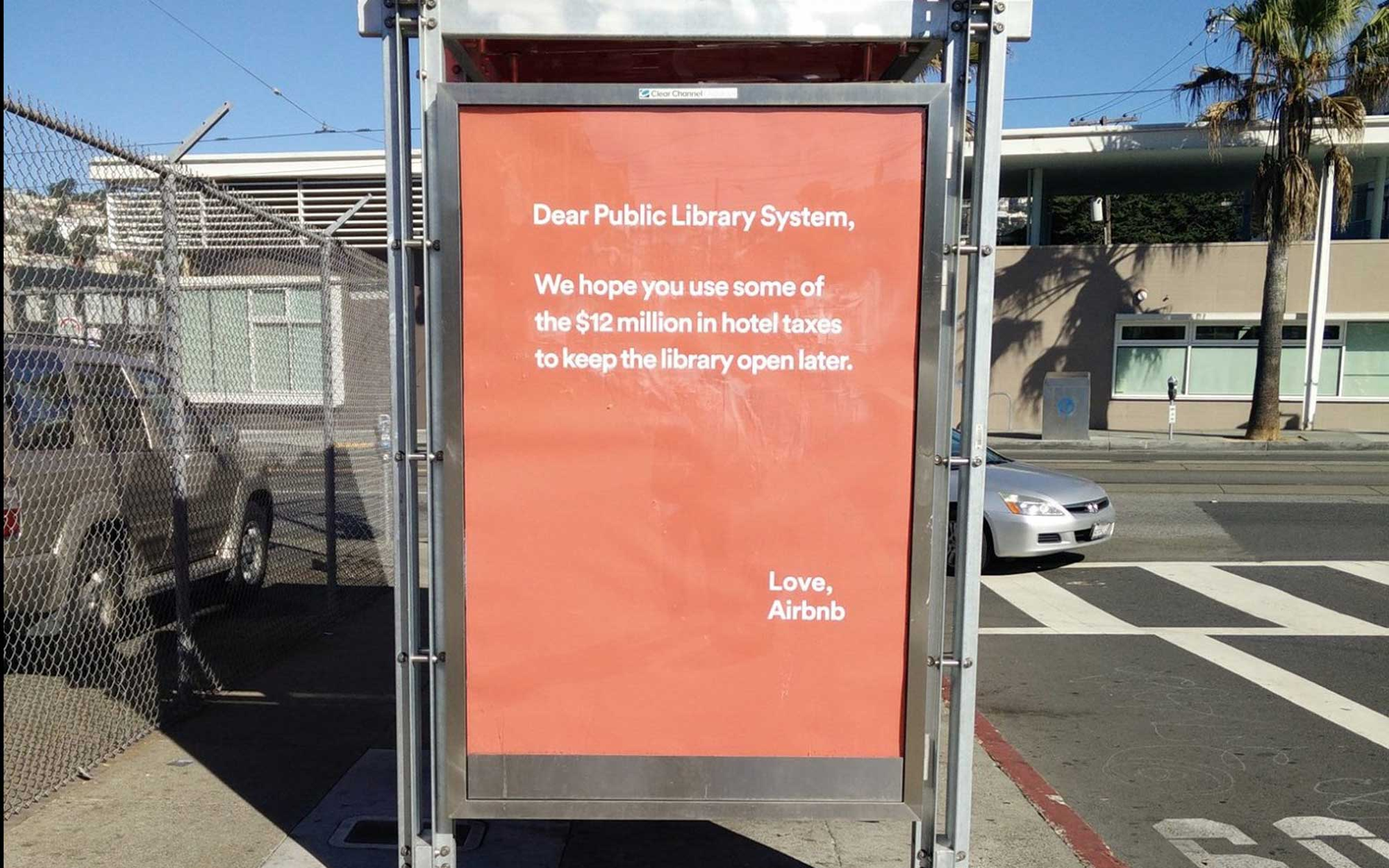 Airbnb is Removing its Condescending Library Ads in San Francisco