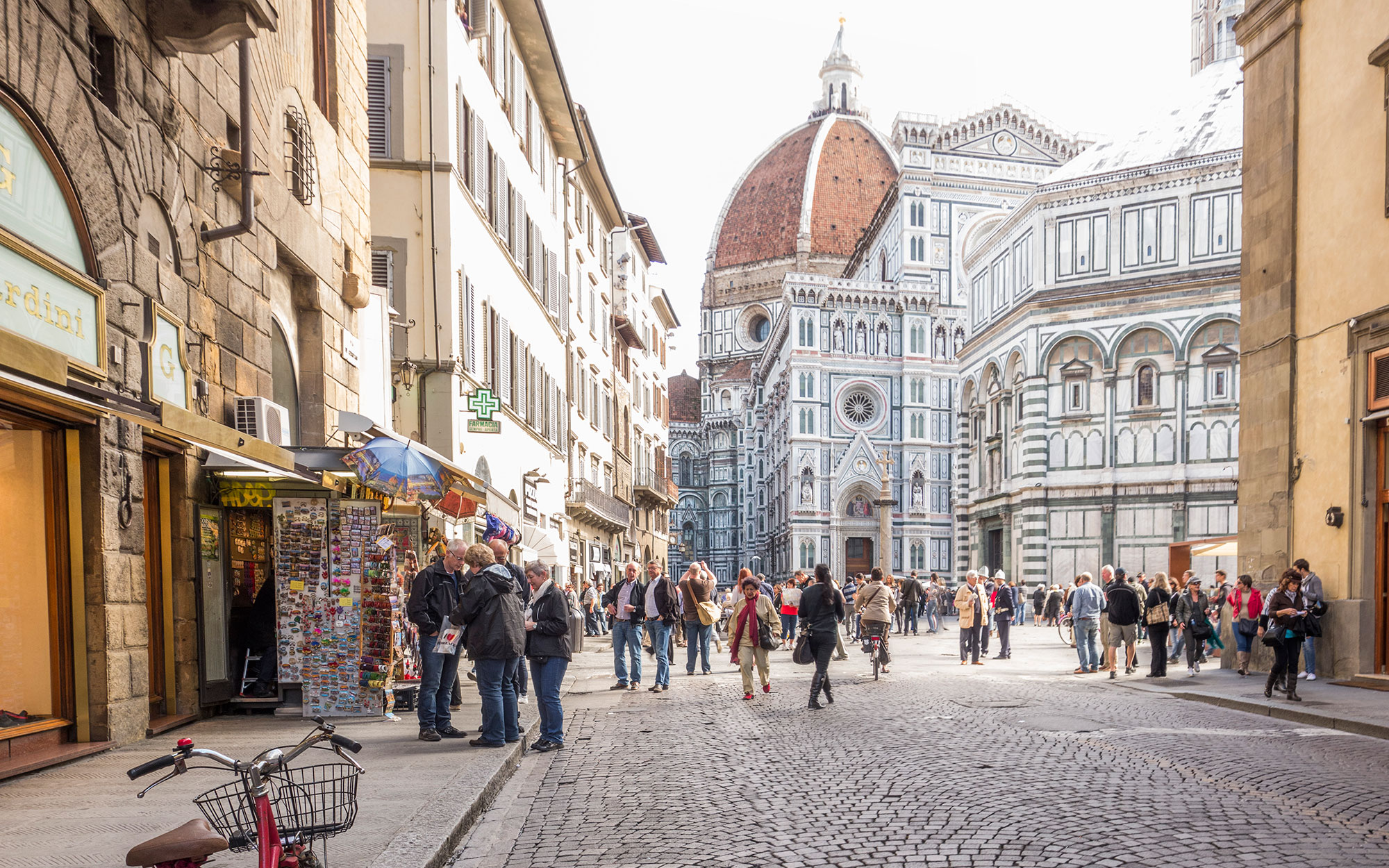 Street scene in Florence Italy