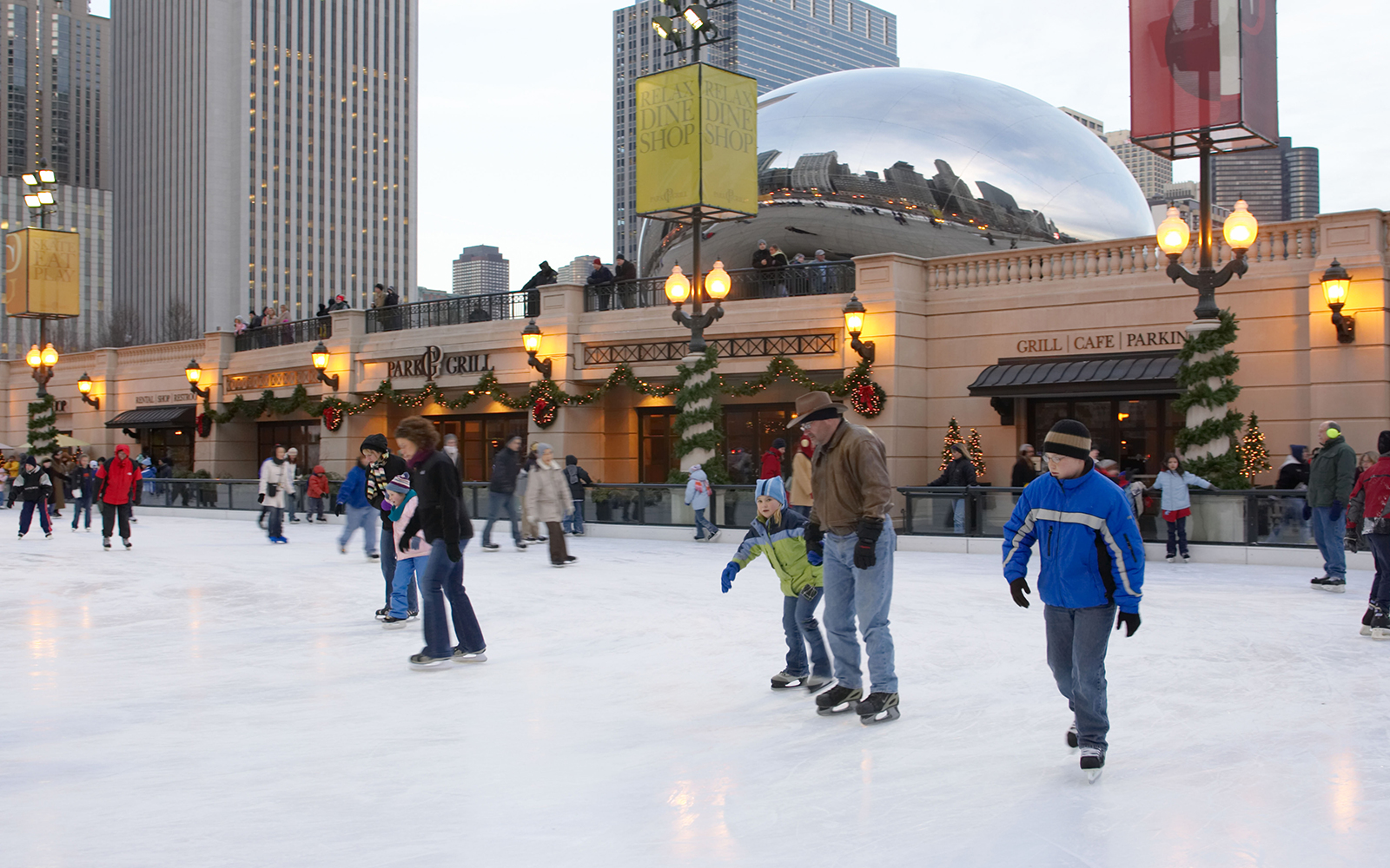 Ice Skating in Millenium Park