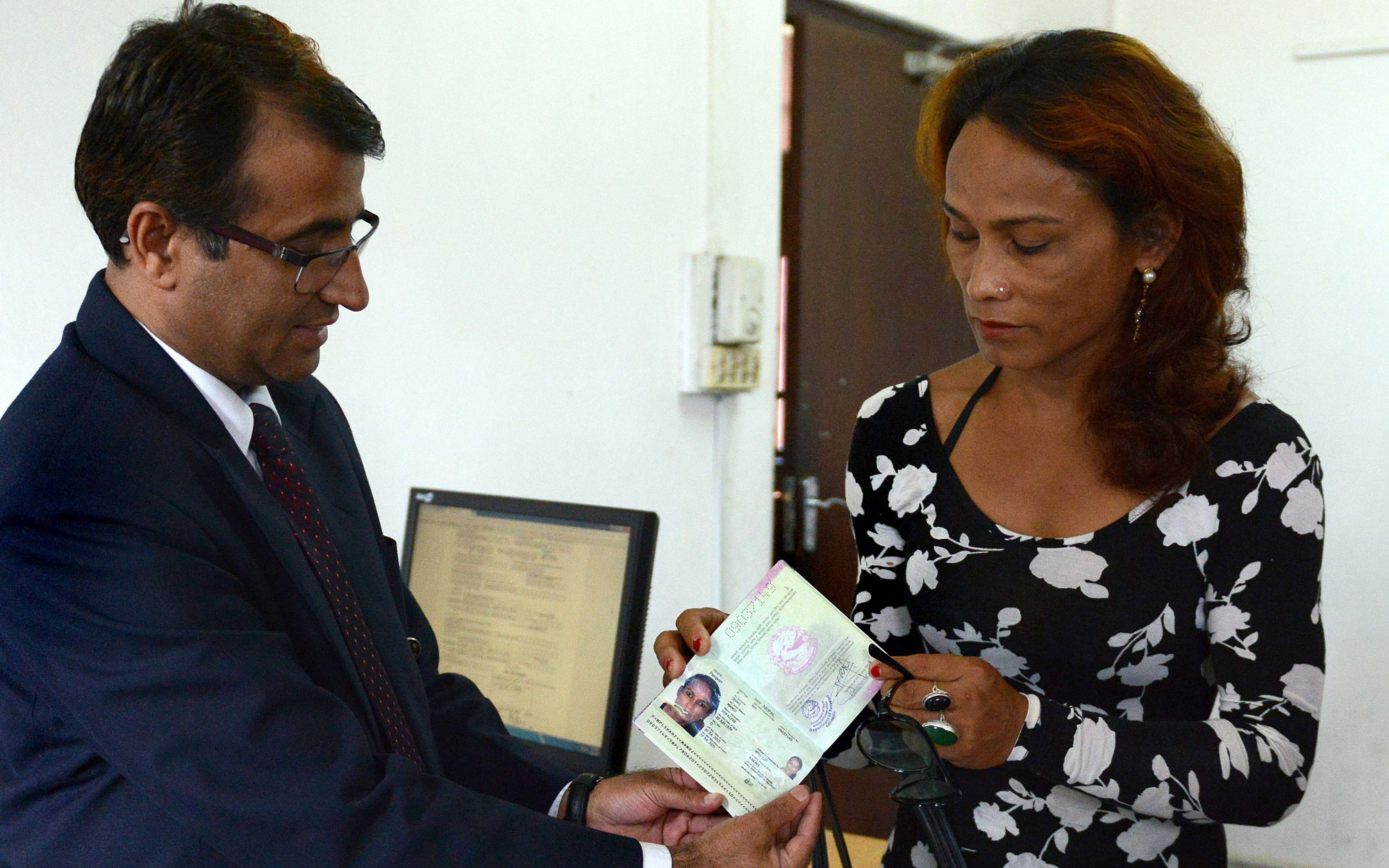 Nepalese first trans passport